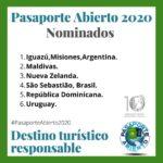 La Organización Mundial de Periodismo Turístico nomina a Iguazú al premio Pasaporte Verde 2020