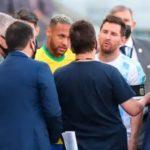 Papelón Mundial: Funcionarios de Salud se meten en la cancha en pleno partido con Brasil; y la Argentina deja la cancha